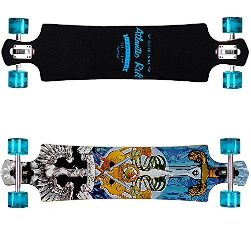 "Longboard ""ORIGINAL Atlantic Rift"" Dropdown-Bauweise - ABEC 9 Lager Komplettboard Skateboard Rift Blade"