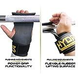 Hydar Strength Gewichtheber-Bandagen, Dual-Funktionalität von Handgelenkbandagen und Handschuhe, gepolstert - 3