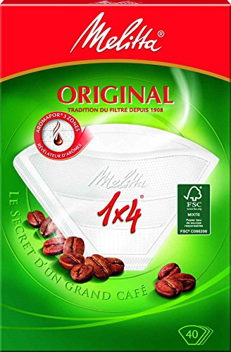 Buylloon home M30400 - Papel filtro cafetera melitta 1x4
