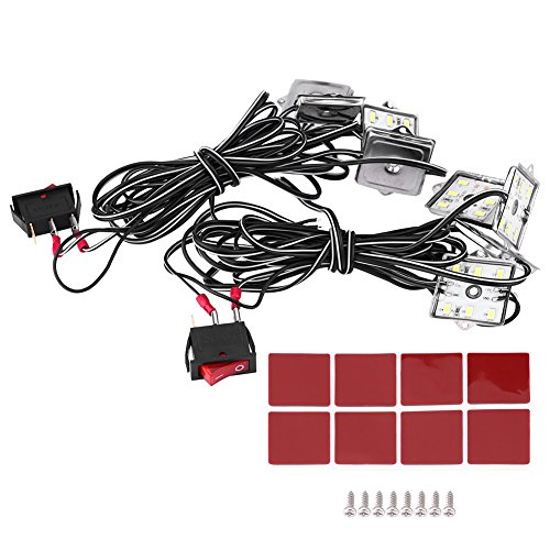 Qiilu 12V 48LED SMD Auto LKW Innenbett Hintere Arbeits Kasten Beleuchtungs Installationssatz Stamm Licht (Lkw-bett Kit)
