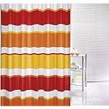 Kleine Wolke Linea - Tenda da doccia, 120 x 200 cm, colore: Rosso/Arancione