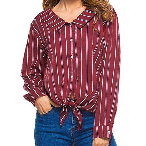 Sweatshirt Damen Blusen Frauen Stehen Kragen Pullover Lose Streifen mit Langen Ärmeln Shirt Tops Bluse Kapuzenpullover Hoodie,ABsoar