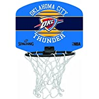 Spalding NBA Miniboard Oklahoma City 77-659Z Minicanasta, Unisex, Multicolor, Talla Única