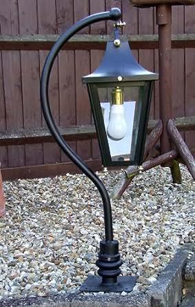 Curva Lanterne Noir Vintage avec portail Post (Taille M)