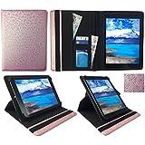 """Sunstech Tab 92QC / Tab917QC / Tab97DC 9"""" Tablet Rosa Mariposa en Relieve Universal 360 Grados de Rotación Cuero PU Funda Carcasa Case Cover ( 9 - 10 Pulgadas ) de Sweet Tech"""