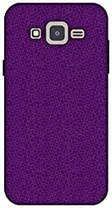 The Racoon Lean Mesh Purple hard plastic printed back case / cover for Samsung Galaxy J2
