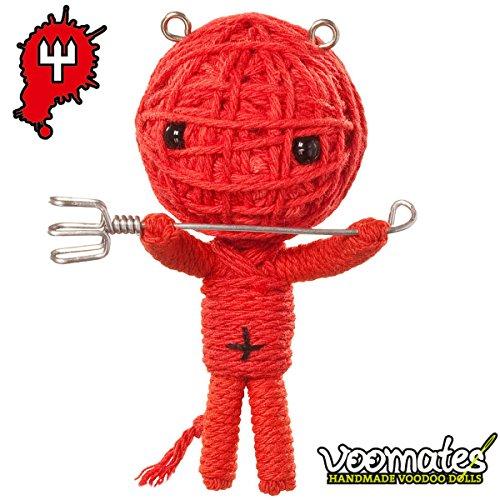 Voomates String Doll Voodoo-Puppen - handgemachte Sorgen-Püppchen Fingerpuppen - Die Handpuppen mit 81 Modelle - Devil Boy (Teufelchen)