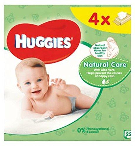 HuggiesToallitas Húmedas Para Bebés Cuidado Natural Quads 56 (Paquete de 2)