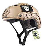 ATAIRSOFT Airsoft PJ Type Casco rápido para CQB Shooting Paintball Army Military Combat DE
