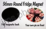 personalisiert Foto Kühlschrank Magnet rund 96mm groß (2Stück) mit eigenen Foto, Text, Design, individuell bedruckt von JMS Fotos.