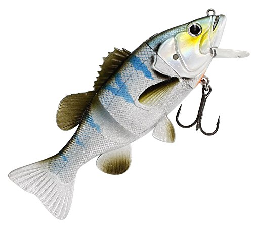 Westin Barry the Bass Slow Sinking 15cm 57g - Gummifisch Wobbler zum Spinnfischen, Hechtköder, Swimbait zum Hechtangeln Spinnköder, Farbe:Blueback Herring