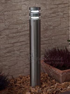 Moderne Edelstahl LED-Stehleuchte 2/2/814