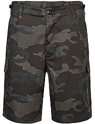 Brandit Hombres US Ranger Pantalones Cortos Dark Camo Tamano XXL