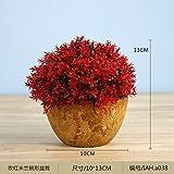 HL-HZH-Topf mit BlumenEmulation Blume Pflanzen Topfpflanzen Wohnzimmer Ornament Blume Sham Zimmer Kunststoff Blume Fenster Tabelle kleine Pendel Blumenkunst, 038