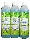 Biopretta Scherkopfreiniger 3x 1000ml Nachfüllflüssigkeit für Reinigungskartuschen