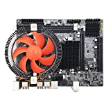 Formulaone X58 Desktop PC Hauptplatine LGA 1366 E5645 6 Kern 12 Threads CPU + 8G Speicher + Stummschaltung Fan Computer Hauptplatine DDR3 RAM - Multicolor