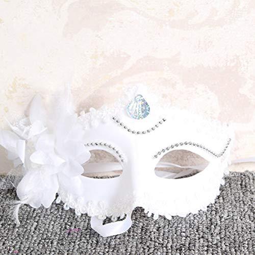 XAOBNIU Halloween Maske Maskerade verkleiden Sich Requisiten Half Face Adult Party weibliche Sexy Maske (Farbe : Weiß)