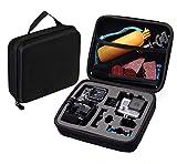 BPS Action Kamera EVA Tragbar Stoßfest Spielraum-Speicher Schutztragetasche Tasche für GoPro Hero 4 Hero 3 + Hero 3 Hero 2 schwarz silber und Gopro Zubehör, passend auch für Rollei AC 300 Rollei 400 Rollei 410 Rollei 420,SJ4000 SJ5000 SJ6000SJ7000 Qumox DB POWER (Größe M)
