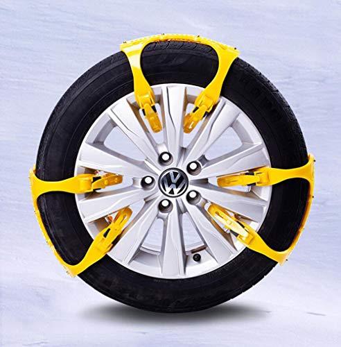 Double-breasted-design (MOOMDDY Allgemein glühende Automobile Anti-Schleuder-Kette Automobil-Anti-Rutsch-Kette Strumpfhosen Tire Double-Breasted Design Schneekette)