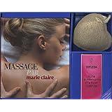 Massage par Marie Claire : Avec 1 huile de massage + 1 loofah