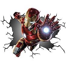 Marvel Los Vengadores Iron Man IRONMAN v00258pared Crack pared smash–Adhesivo decorativo para pared, Art de pared Póster adhesivo Tamaño 1000mm de ancho x 600mm de profundidad (tamaño grande)