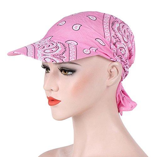 (VRTUR Beach Modisches Bandana Kopftuch Bandana Cap 100% Baumwolle in über Verschiedenen Farben und Mustern Hut (One size,Rosa))