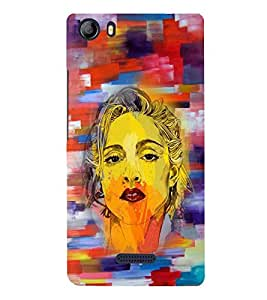 Fuson Premium Girl Portrait Printed Hard Plastic Back Case Cover for Micromax Canvas 5 E481