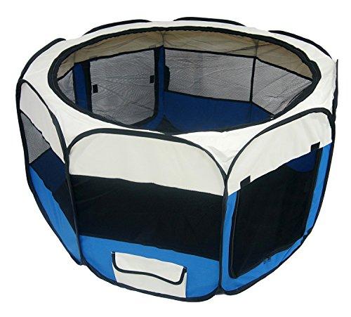 Lolipet – Blauer Freilaufgehege – großer Tierlaufstall für innern oder außen – einfach aufzubauen - 2