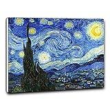Niik Quadro Con Telaio (BB) Notte Stellata Di Vincent Van Gogh 100 x 81 x 1,7 Falso d'autore stampa su tela