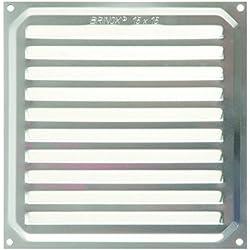 Brinox B70220A - Rejilla de ventilación (15 x 15 cm) color aluminio