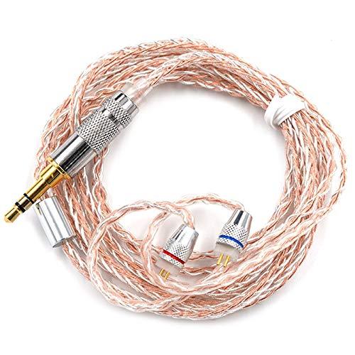 Wenquan,Kupfer-Silber-Hybrid-Kabel für die Aufrüstung der Kabel der Kabel für ZST ZS10 / ES3 / ES4 / AS10 / BA10 / ZS6 / ZS5 / ZS4-Ohrstöpsel(Color:VERLANGTE Mandel,Size:MMCX-PIN)