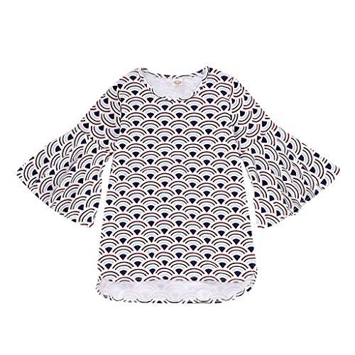 sunnymi  ® 1-5 Jahre Baby Kleider Mädchen Mandarin-Ärmelstreifen Print Prinzessin Kleidung
