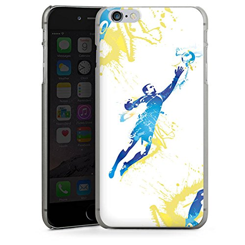 Apple iPhone X Silikon Hülle Case Schutzhülle Torhüter Fußball Torwart Hard Case anthrazit-klar
