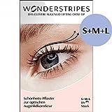 Wonderstripes Augenlid Pflaster, transparent, Größe S-M-L