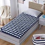 SL&CL Baumwolle matratze,Studentenheim Einzel 0.9m Bett matratze Quilt 1.0 m 1 || * 2 m m.2 pad Tatami Matte faltbares Kissen fußmatten-Blau 90x200cm(35x79inch)