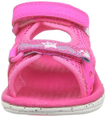 Clarks Star Games Fst, Baby Girls' Walking Baby Shoes, Pink, 7 UK (24 EU)