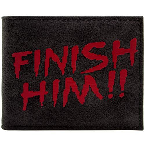 Mortal Kombat Finish Him Fatality Move Raiden Schwarz Portemonnaie Geldbörse