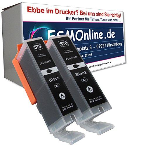 2 komp. XL Doppelpack schwarze Druckerpatronen Ersatz für Canon PGI-570BK XL für Canon Pixma MG 5700 5750 5751 5752 5753 6800 6850 6851 6852 6853 7700 7750 7751 7752 7753