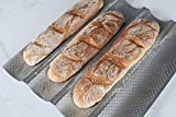 Best Baguette Pans - French Bread Pan Perforated Baguette Pan Wave Loaf Review