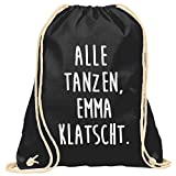 GEILE TEILE Turnbeutel Emma klatscht inkl. Druffkleber Sticker