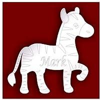 Porta bambini camera da letto personalizzata–10cm Etched Zebra acrilico specchio estate * vendita *