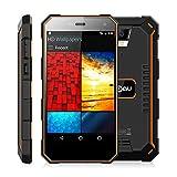 Smartphone ohne vertrag,Nomu S10 IP68 Wasserdichtes Staubdichtes Stoßfestes 5.0zolI Android 6.0 4G LTE 3G WCDMA Ohne Vertrag Quad Core 1.5GHz 5000mAh Akkukapazität 2GB RAM 16GB ROM 8MP Hauptkameras (Orange)