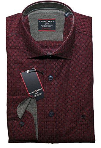 Casa Moda Herren Hemd bordeaux Rot