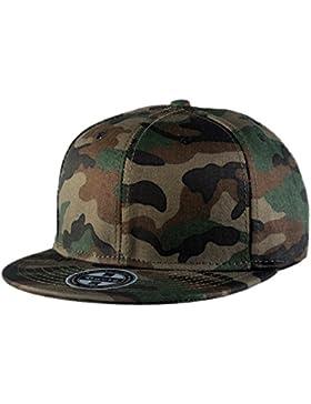 Aivtalk - Gorra de Béisbol Unisex Camuflaje Hip Hop Snapback Sombrero Plano Dance Hat Moda Accesorio
