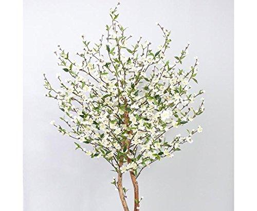 Kirschblütenbaum mit 924 weiße Blüten, Höhe 210cm – Kunstpflanze künstliche Blumen Kunstblumen Blumensträuße künstlich, Seidenblumen oder Blumen aus Plastik Kunststoff
