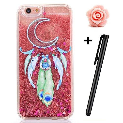 iPhone 6S Plus Hülle,iPhone 6 Plus/6S Plus Hülle Case,TOYYM 3D Kreativ Design Dynamisch Fließen Flüssig Handyhülle PC Hardcase Hüllen für Apple iPhone 6 Plus/6S Plus 5.5inch,Glitter Glitzer Sparkle Ha Dreamcatcher#7