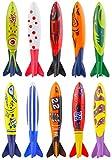 Kompanion Set da 10 Pezzi di Torpedo Giocattolo per Piscina Design Assortiti Aiuto da Nuoto per Bambini e Adulti Ottimo Gioco Subacqueo per Immersioni