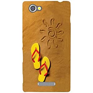 Sony Xperia M Slippers Matte Finish Phone Cover - Matte Finish Phone Cover