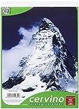Pigna Cervino 02119215M, Blocco formato A5, Rigatura 5M, quadretti 5 mm, Carta 50g/mq, Pacco da 10 Pezzi