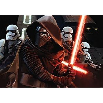 DELESTER DESIGN 2740VEXXXL Star Wars Episode VII Le R/éveil de la Force Papier Peint Intiss/é 4 Panneaux Multicolore 416 x 254 cm
